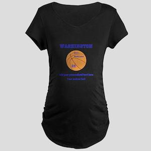 Basketball Personalized Maternity T-Shirt