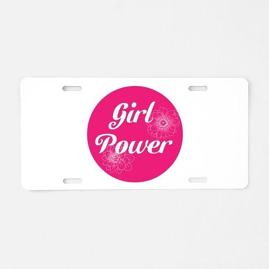Girl Power, Aluminum License Plate