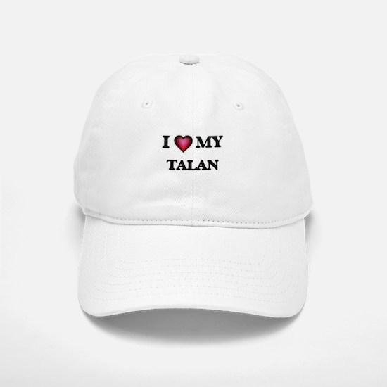 I love Talan Baseball Baseball Cap
