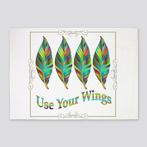 Use Your Wings 5'x7'Area Rug
