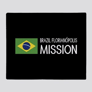Brazil, Florianópolis Mission (Flag) Throw Blanket