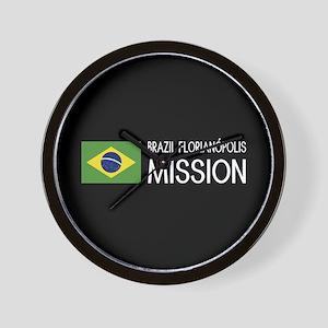 Brazil, Florianópolis Mission (Flag) Wall Clock