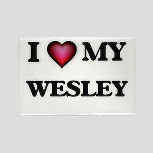 I love Wesley Magnets