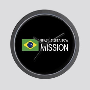 Brazil, Fortaleza Mission (Flag) Wall Clock