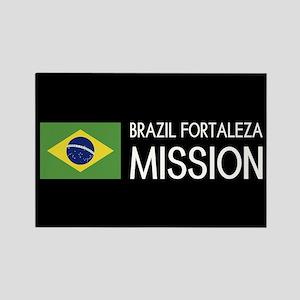 Brazil, Fortaleza Mission (Flag) Rectangle Magnet