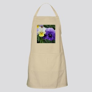 Italian Purple and Yellow Pansy Flowers Apron