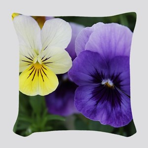 Italian Purple and Yellow Pansy Flowers Woven Thro