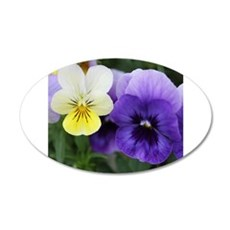 Italian Purple and Yellow Pansy Flowers Wall Decal