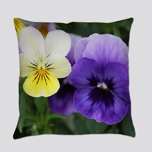 Italian Purple and Yellow Pansy Flowers Everyday P
