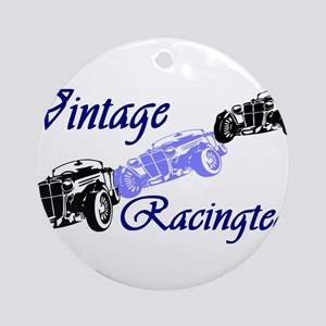 Vintage Car Round Ornament