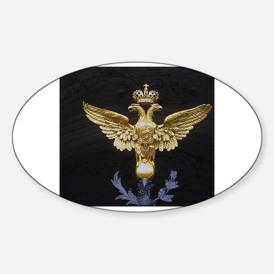 Unique Two headed eagle Sticker (Oval)
