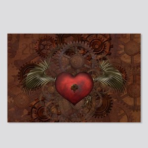 Awesome Steampunk Heart W Postcards (Package of 8)