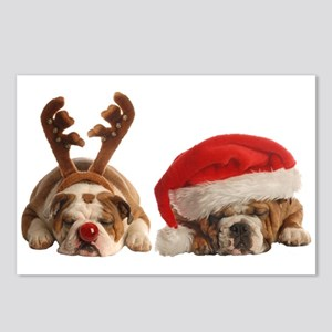 Funny Bulldog Christmas Postcards (Package of 8)