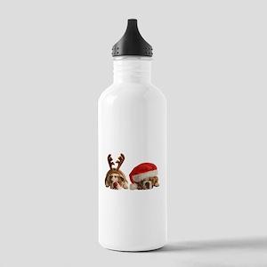 Funny Bulldog Christma Stainless Water Bottle 1.0L