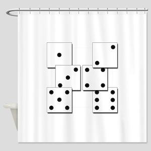 dice white box Shower Curtain