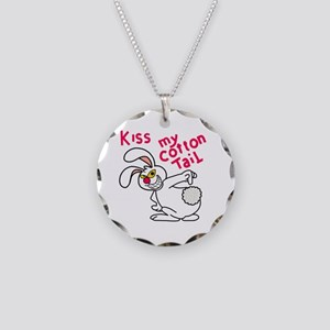 Kiss my cottontail! Necklace Circle Charm