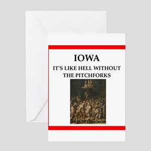 Worst state ever greeting cards cafepress iowa greeting cards m4hsunfo