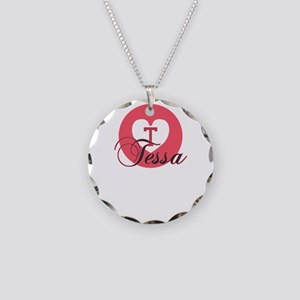 tessa Necklace Circle Charm