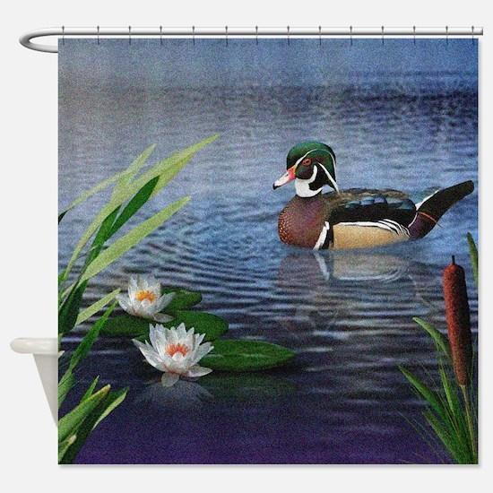 Wood Duck Pond Shower Curtain