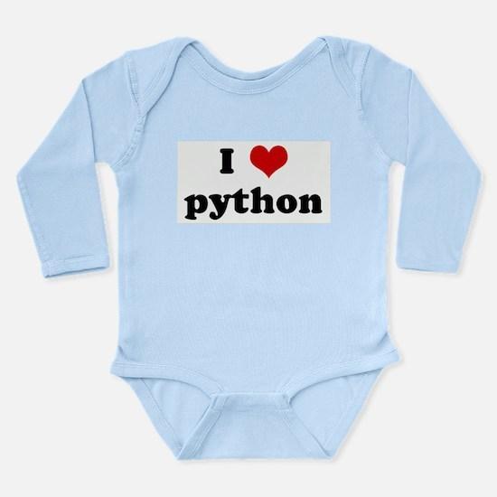 I Love python Body Suit