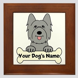 Personalized Briard Framed Tile