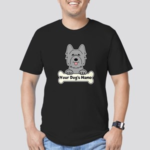 Personalized Briard Men's Fitted T-Shirt (dark)