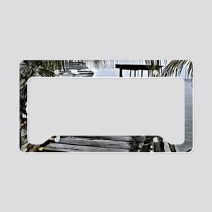 Dock in the Caribbeans with t License Plate Holder