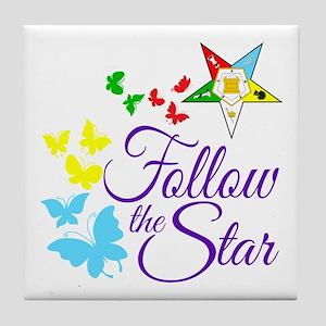OES Swirly Star Tile Coaster