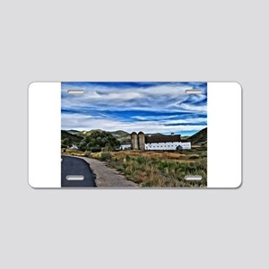 Barn and Trees Portrait Aluminum License Plate