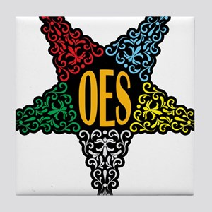 OES Swirl Star Tile Coaster