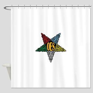 OES Swirl Star Shower Curtain