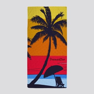 Personalize Sunset Beach Towel