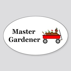 Master Gardener Sticker (Oval)