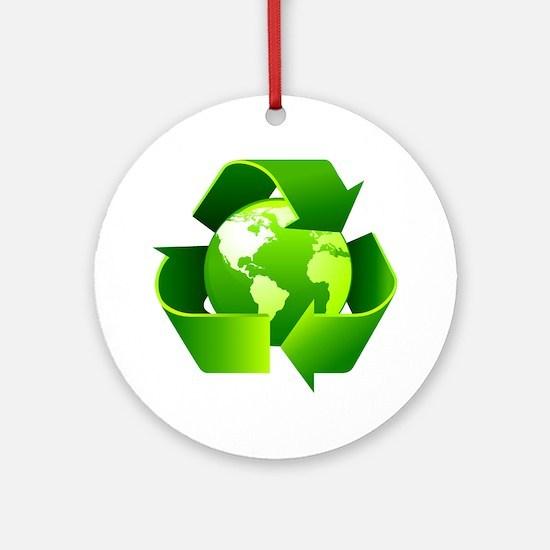 Cute Greenpeace Round Ornament