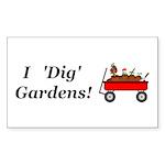 I Dig Gardens Sticker (Rectangle 50 pk)