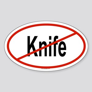 KNIFE Oval Sticker