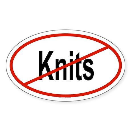 KNITS Oval Sticker