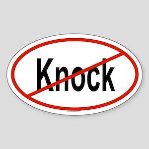KNOCK Oval Sticker
