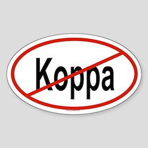 KOPPA Oval Sticker