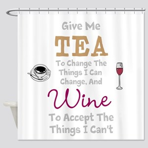 Tea And Wine Shower Curtain