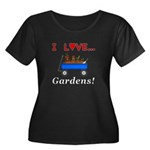I Love G Women's Plus Size Scoop Neck Dark T-Shirt