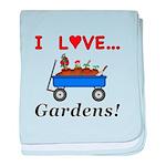 I Love Gardens baby blanket