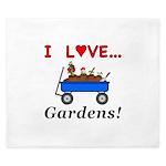 I Love Gardens King Duvet