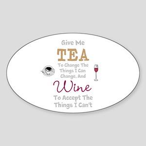 Tea and Wine Sticker