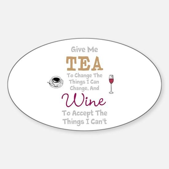Tea and Wine Decal