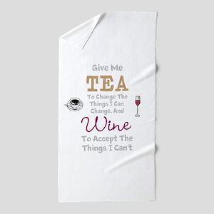 Tea and Wine Beach Towel