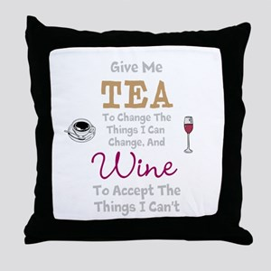 Tea and Wine Throw Pillow