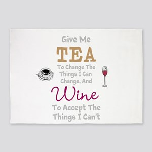 Tea and Wine 5'x7'Area Rug