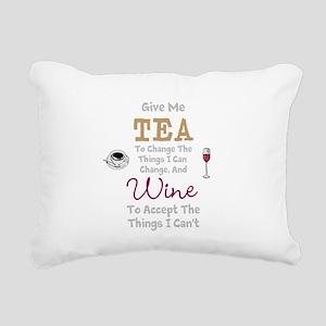 Tea and Wine Rectangular Canvas Pillow