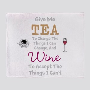 Tea and Wine Throw Blanket